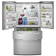 Kitchen Aid 4 door fridge freezer---I want this!