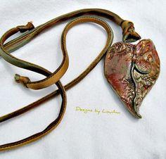 Gourd Leaf pendant by LouAnnsDesigns