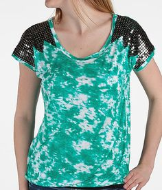 Daytrip Sequin Accent Top