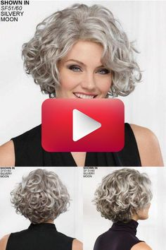 Right in the photo: Cuts for curly or curly hair ⋆ Facing the Sea -. Bob Hairstyles For Thick, Haircuts For Curly Hair, Curly Hair Cuts, Curly Hair Styles, Short Permed Hair, Grey Curly Hair, Short Hair Styles Easy, Short Hair Cuts For Women, Short Grunge Hair