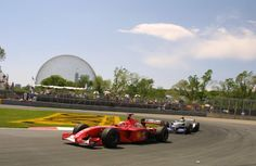 Michael Schumacher (Ferrari) leads Ralf Schumacher (Williams), 2001 Canadian Grand Prix