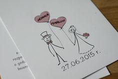 Jak zrobić tanim kosztem zaproszenia ślubne. Gomułeczki mówią o swoich zaproszeniach i polecają sposób: własny projekt + drukarnia. :) Playing Cards, Wedding, Presents, Mariage, Playing Card Games, Weddings, Marriage, Cards, Playing Card