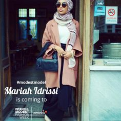 Dünyaca Ünlü Modest Model Mariah Idrissi 13-14 Mayıs'ta Istanbul Modest Fashion Week'te! Famous Mariah Idrissi is going to be in Istanbul Modest Fashion Week on 13th and 14th of May. #IstanbulModestFashionWeek #imfw #fashionshow #hijabfashion #alahijab #hijabchamber #modestymovement #modestfashion #hijabstyle #chichijab #hijabmuslim #istanbul #turkey #fashionweek #istanbulfashionweek #fashion #design #modest #hijab #style #stylish