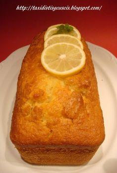 Υλικά 3 φλ. αλεύρι για όλες τις χρήσεις 1 1/2 φλ. ζάχαρη 1 γιαούρτι στραγγιστό 4 αυγά σε θερμοκρασία δωματίου 1 φλ. μαργαρίνη σε θερ... Greek Sweets, Fresh Cream, Cornbread, Sweet Recipes, Banana Bread, Food To Make, French Toast, Muffin, Lemon