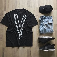 WEBSTA @ quartrlife - (execution is key) @outfitgrid.• @Villainsco Tee.• @Csndth Cap.• @Otheruk Denim.• @Nike Free Ace Leather.