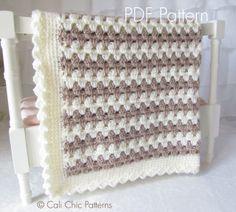 Cali Chic Patterns - Teddy Bear - Crochet Baby Blanket PATTERN 58, $5.00 (http://www.calichicpatterns.com/)