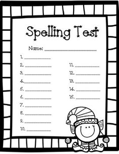 Christmas Spelling Test! Yay