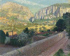View L'estret de Valldemossa, Mallorca - By Santiago Rusiñol; oil on canvas; Access more artwork lots and estimated & realized auction prices on MutualArt. Spanish Painters, Spanish Art, Cool Artwork, Art Masters, Painting, A Level Art, Traditional Paintings, Landscape Art, Garden Painting