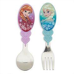 Disney Anna and Elsa Flatware Set Disney Princess Room, Disney Dishes, Fire Chicken, Kawaii Hairstyles, Shopkins, Flatware Set, Disney Girls, Baby Food Recipes, Diy For Kids