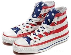 93d5d43a3534 Converse All Star Shoes Hi-top America Flag Red gotta get them specially  when America flag theme on them.