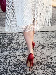 jigsaw clothing white dress 2015 - Google Search Vuitton Bag, Louis Vuitton, Jigsaw Clothing, Lace Dress, White Dress, Flare Skirt, Summer 2015, Yves Saint Laurent, What To Wear