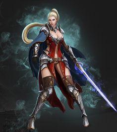 [Game] 신세계 on Behance Sword Mage, Fantasy Portraits, Fantasy Images, Fantasy Characters, Fictional Characters, Fantasy Warrior, Medieval Fantasy, Sci Fi Art, Wonder Woman