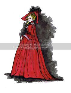 "$14: 8.5x11 ""The Fine Lady 18th Century"" Historic Fashion Illustration Print by EveningStarArt on Etsy"