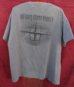 Neil Young CHROME DREAMS II Bandit. Excellent condition t-shirt from a Neil Young Tour. The 100% cotton fabric is gray. | eBay!