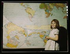 Rural school girl, San Augustine County, Texas
