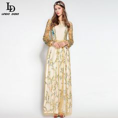 Women's Elegant Long Sleeve Floor Length Banana leaves Sequined Bodycon Lace Long Dress Like and Share if you agree! http://www.skaclothes.com/product/ld-linda-della-mermaid-party-dresses-womens-elegant-long-sleeve-floor-length-banana-leaves-sequined-bodycon-lace-long-dress #shop #beauty #Woman's fashion #Products