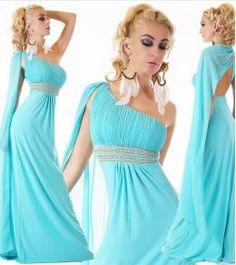 5656731f2ec6 ΝΕΕΣ ΠΑΡΑΛΑΒΕΣ - Τελευταία τάση της μόδας - σελίδα 2. Φορέματα Για  ΧορόΕπίσημα Φορέματα. Υπέροχο βραδινό μάξι φόρεμα με έναν ώμο-τυρκουάζ