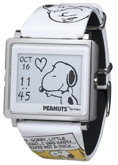 Epson Smart Canvas Peanuts Beagle Hug Snoopy and Charlie Brown Watch for sale online Retro Watches, Watches For Men, Snoopy Beagle, Baby Snoopy, Snoopy Watch, Joe Cool, Charlie Brown And Snoopy, Snoopy And Woodstock, Peanuts Snoopy