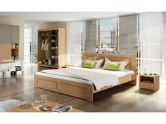 Drevená manželská posteľ WILLIAM / vyrobená z kvalitného masívneho… Bed, Furniture, Home Decor, Decoration Home, Stream Bed, Room Decor, Home Furnishings, Beds, Home Interior Design