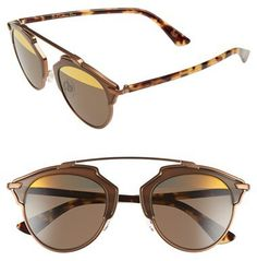 d0cc87ca2d407 Women s Dior  So Real  48Mm Sunglasses - Bronze  Havana Dior Sunglasses