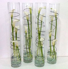 Modern calla lily cylinder vase by Events in Bloom, via Flickr