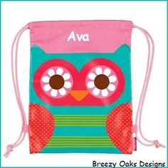 Personalized Owl, Toddler Backpack, Overnight,School Bag, Beach Bag, Accessories Bag, Camp Bag, Pre School Backpack, Drawstring Backpack by breezyoaksdesigns. Explore more products on http://breezyoaksdesigns.etsy.com
