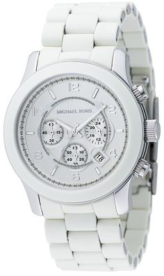 White on white! Michael Kors watches are a go-to for ceramic watches