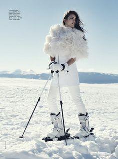 Publication: Vogue Australia June 2014 Model: Emily DiDonato Photographer: Benny Horne Fashion Editor: Christine Centenera Hair: Shin Arima Make up: Chiho Omae