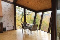 This wonderful 1979 time capsule ski chalet has a fabulous views and groovy original mid century decor including a freestanding orange fireplace,