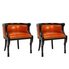 Pair of Carved Ram's Head Armchairs by Tomlinson