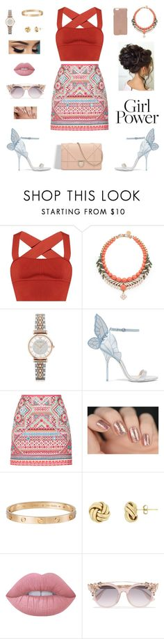 """""""💪🏻💪🏻"""" by onesnk ❤ liked on Polyvore featuring Khaite, Ellen Conde, Emporio Armani, Sophia Webster, Accessorize, Cartier, Lime Crime, Jimmy Choo and Tory Burch"""