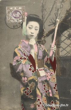 CPA JAPON / Femme Geisha | cartes postales anciennes : japon | Ref: 10342 | collection-jfm.fr