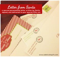 Personalized letter from santa printable babytoddler pinterest personalized letter from santa written on special santa stationery signed mailed spiritdancerdesigns Choice Image