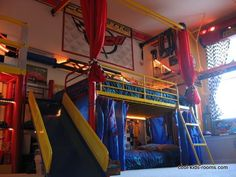 bed+for+four+kids | kids rooms boys designing a great kids bedroom is often great fun a