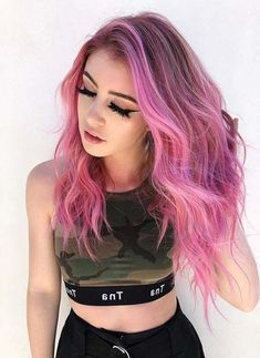 42 Popular Pink Hair Color Shades to Show Off Right Now. Explore the best ideas of pink hair color trends to use for various hair textures nowadays. These shadow rooted pink hair colors are really amazing option for all the ladies who wanna sport some kind of unique hair color styles. This dreamy pink hair color is still in use in 2018. Gorgeous ladies and fashionable women use to wear these awesome pink color to polish their hair looks.
