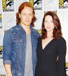 Sam and Cait in the press room, SDCC15