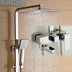 Cheap Sale Frap Bathtub Faucets Bathroom Waterfall Shower Head Set Mixer Bathroom Shower Faucet Rain Shower Panel Bath Faucet Tap Factories And Mines Bathroom Fixtures Bathtub Faucets