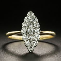 Marquise Diamond, Diamond Cluster Ring, Antique Jewellery, Vintage Jewelry, Dream Ring, Glitters, Round Diamonds, Jewelry Ideas, Jewelry Collection