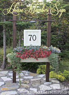 Alderberry Hill: House Number Sign    love this.... may have to adapt something similar for my house!!!