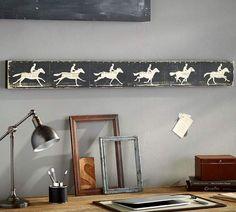 Horse Zoetrope Wall Art. Classy equestrian decor. #ad