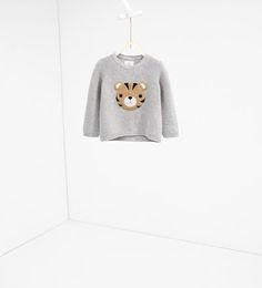 Image 1 of Sweater with tiger face from Zara