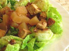 Ensalada de membrillo y tofu. Recetas veganas de Vegetarianismo.net