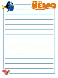 Journal Card - Finding Nemo - lines - 3x4 photo: A little 3x4inch journal card to brighten up your holiday scrapbook! Click on options - download to get the full size image (900x1200px). Logos/clipart belong to Disney. ~~~~~~~~~~~~~~~~~~~~~~~~~~~~~~~~~ This card is **Personal use only - NOT for sale/resale/profit** If you wish to use this on a blog/webpage please use the code under Image Links and link back to here - please do not just take the original image. Thanks and enjoy!! This photo…