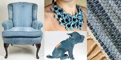 """Jag älskar jeanstyg. För mig är inte denim """"blått"""", det är en grundfärg som kan kombineras med precis allt, både inom inredning och i en outfit. Här är 20 exempel på hur du kan upcycla jeans: 1. Kl..."""