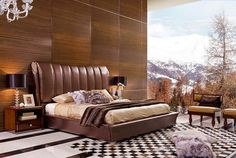 Gorgeous Luxury King Bed Design For Luxurious Bedroom Ideas High Headboard Beds, Ikea Headboard, Headboards For Beds, Headboard Ideas, Modern Headboard, Leather Headboard, Leather Platform Bed, King Platform Bed, European Bedroom