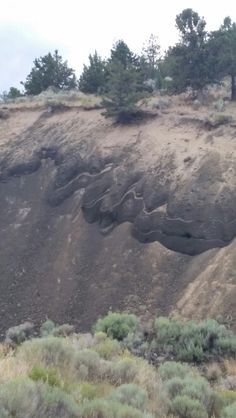 Striated earth at Pilot Butte