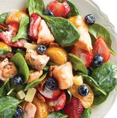 Plan ahead and toss a few salmon fillets on the grill when you're grilling dinner. They'll be a fabulous addition to Summer Spinach Salad with Salmon and Berries.