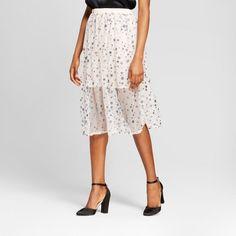 Women's Metallic Star Print Mesh Skirt - Xhilaration™ : Target