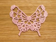 Crochet Lacy Butterfly - diagram only pattern.