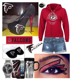 """For Falcons Fans Too.."" by detroitgurlxx ❤ liked on Polyvore featuring COVERGIRL, AG Adriano Goldschmied, P.S. from Aéropostale, Game Time and Forever Collectibles"
